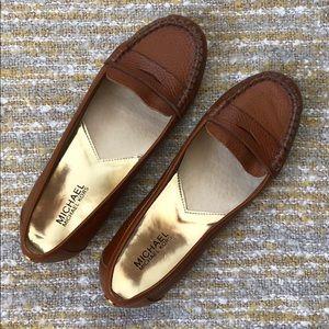 Michael Michael Kors cognac loafers, size 8